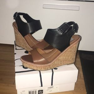 Dolce Vita Cognac leather Jones wedges